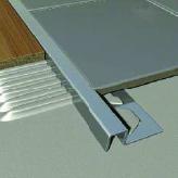 Cube Edge Tile Trim - Chrome Aluminium