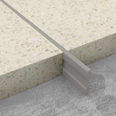 Terrazzo Dividing Strips - Light Grey PVC