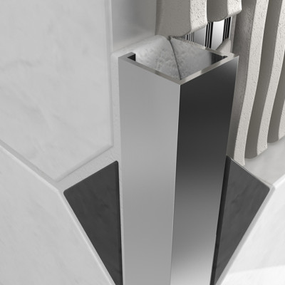 Cube Profile - Chrome Aluminium 1