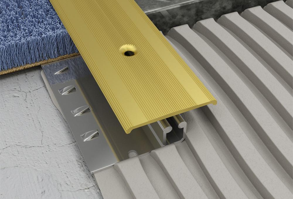 Screwgrip Profile – Matt Brass Aluminium 1