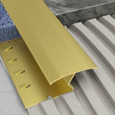 Transcarpet Profile - Matt Brass Aluminium 1