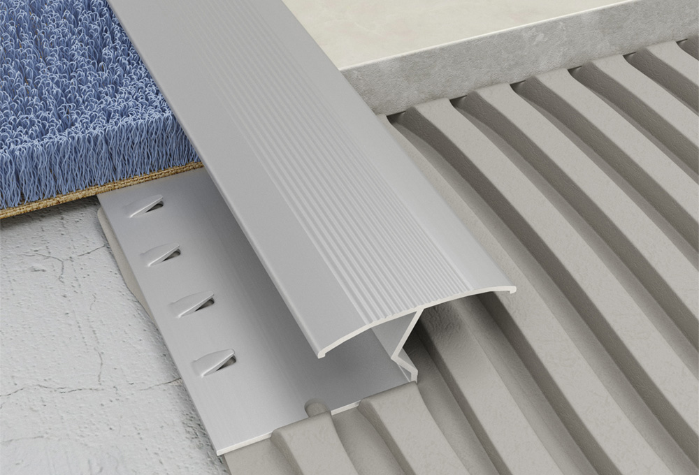 Transcarpet Profile – Silver Aluminium 1