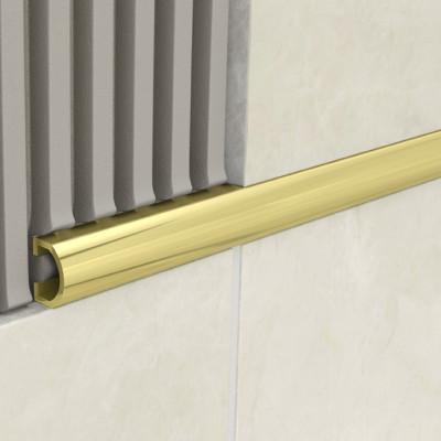 Domed Listello - Gold Aluminium 1