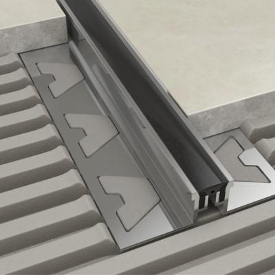 Movement Joint - Aluminium Black Removable Insert 1