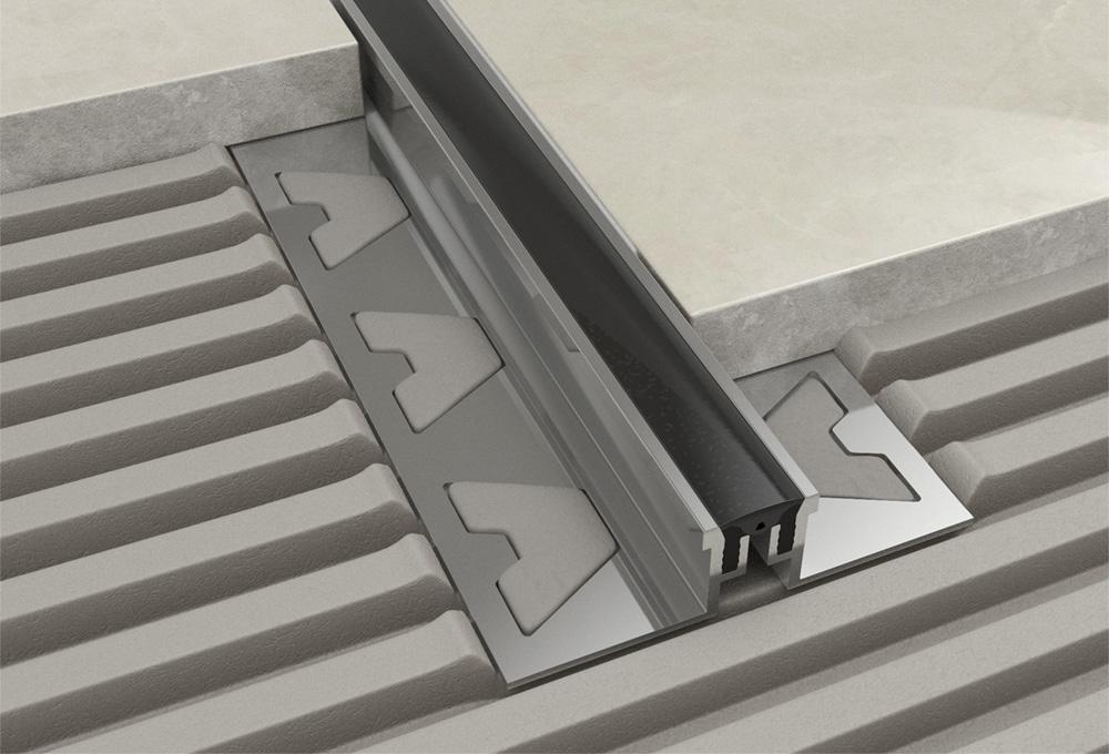 Movement Joint – Aluminium Black Removable Insert 1
