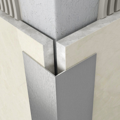 Protective Edging - Brushed Stainless Steel 1
