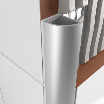 Round Edge Closed Profile - Matt Anodised Aluminium 1