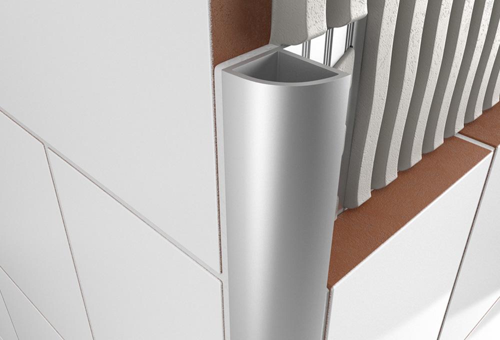 Round Edge Closed Profile – Matt Anodised Aluminium 1