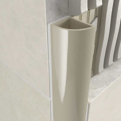 Round Edge Closed Profile - Jasmine PVC 1