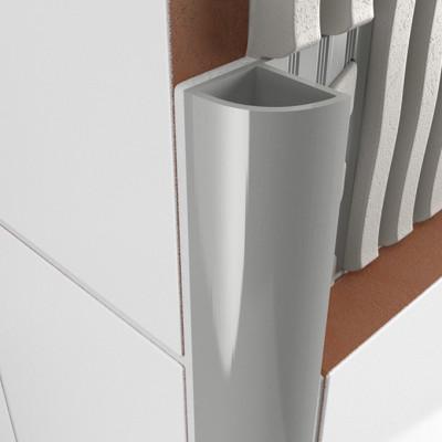 Round Edge Closed Profile - Light Grey PVC 1