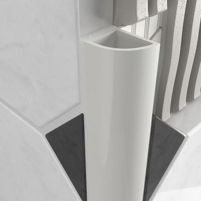 Round Edge Closed Profile - White PVC 1