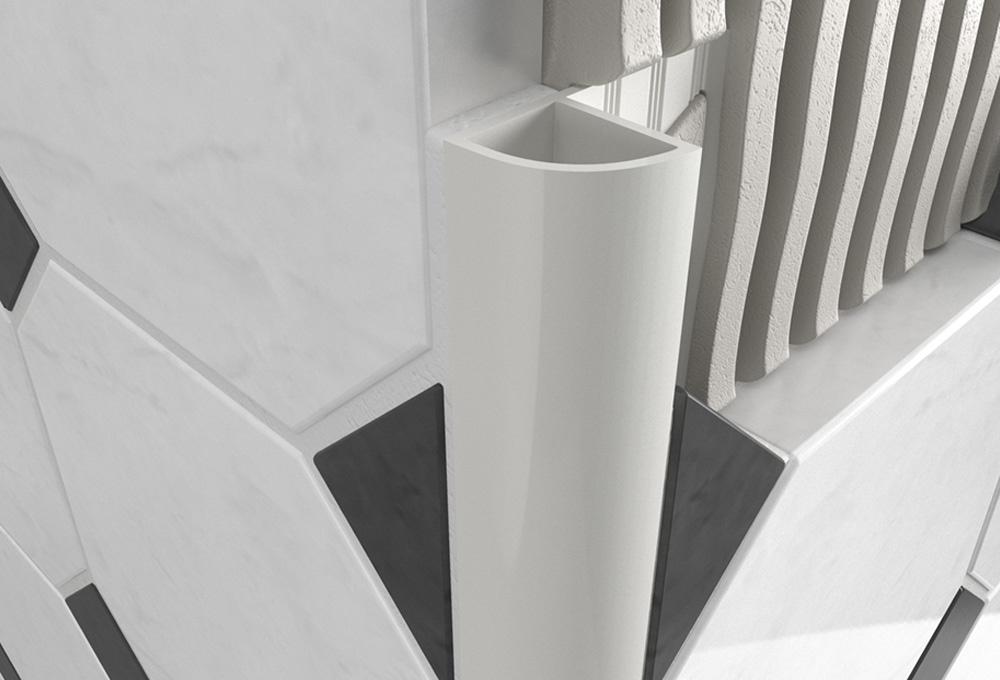 Round Edge Closed Profile – White PVC 1