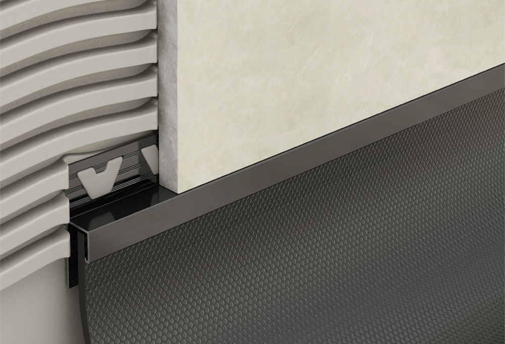 Skirting Trim – Black PVC 1