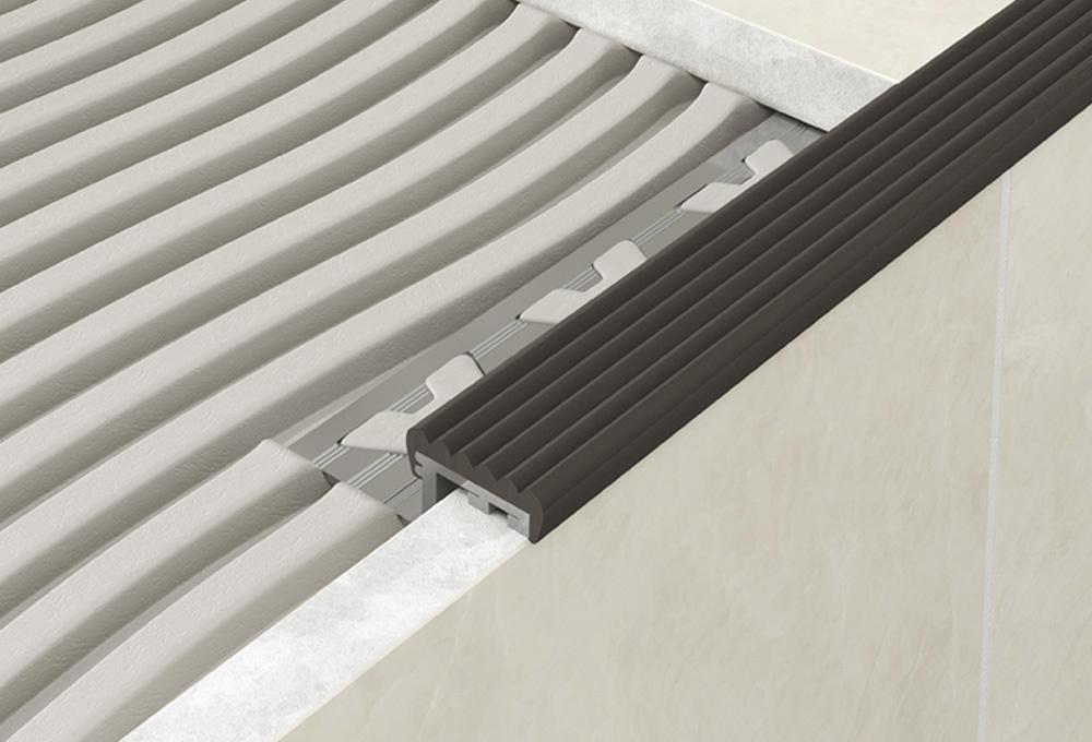 Step Edge Profile – Black PVC 1