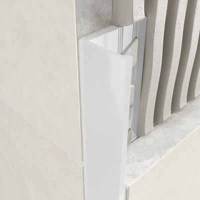 Straight Edge Profile - White Coated Aluminium 1