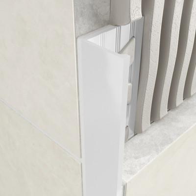 Straight Edge Profile - White Coated Aluminium 1