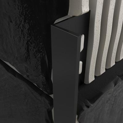 Straight Edge Profile - Black PVC 1