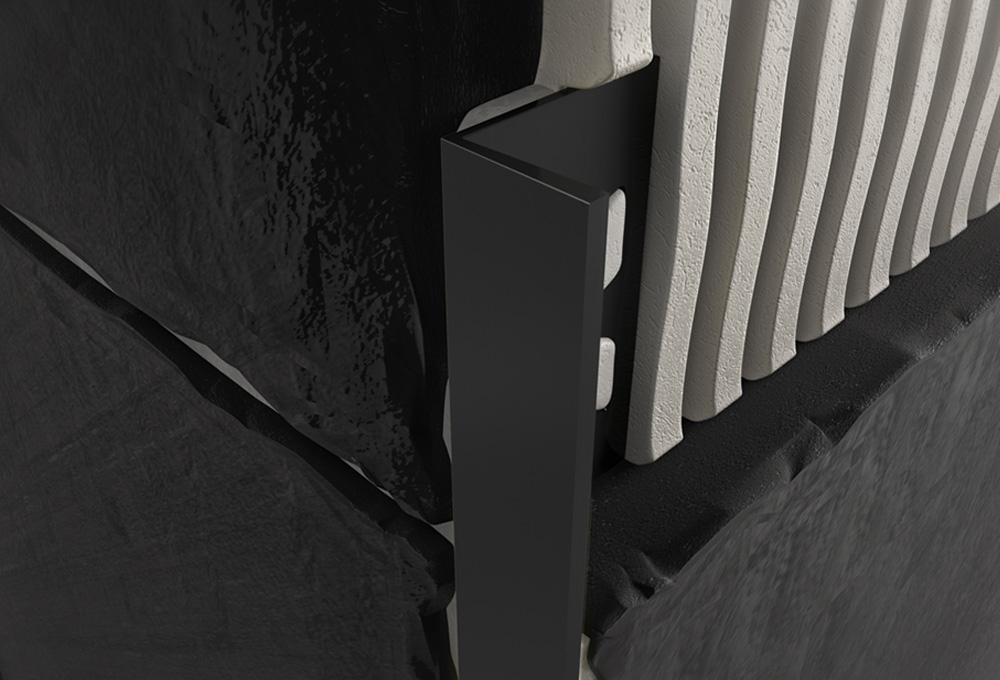 Straight Edge Profile – Black PVC 1