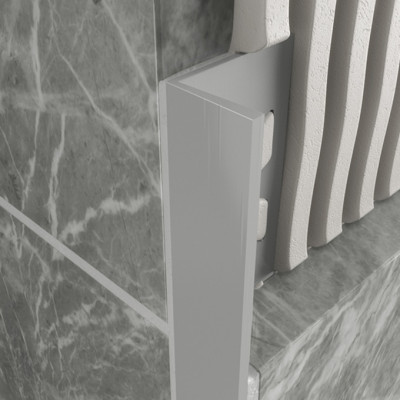 Straight Edge Profile - Light Grey PVC 1