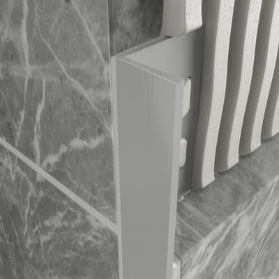 Straight Edge Profile - Light Grey PVC 1