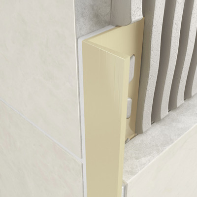 Straight Edge Profile - Ivory PVC 1