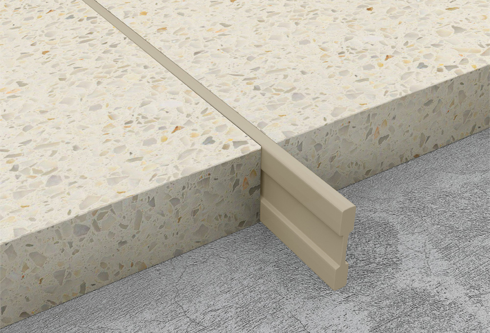 Terrazzo Dividing Strips Cream Pvc Atrim Global Uk