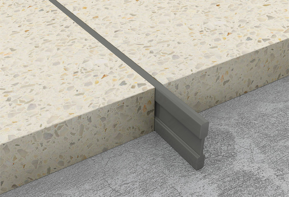 Terrazzo dividing strips dark grey pvc atrim global uk