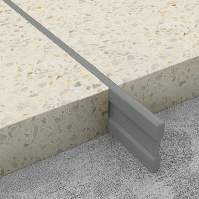 Terrazzo Dividing Strips - Mid Grey PVC 1