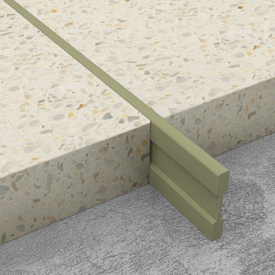 Terrazzo Dividing Strips - Mushroom PVC 1